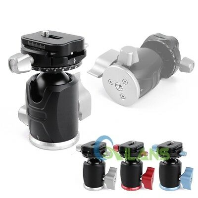 "AU X-36 360° Rotating Tripod Head Ball Head With Quick Release Plate 3/8"" 1/4"""