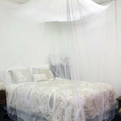 4 Corner Post Bed Royal Canopy Mosquito Net Full Ceiling Bed Net Netting Bedding