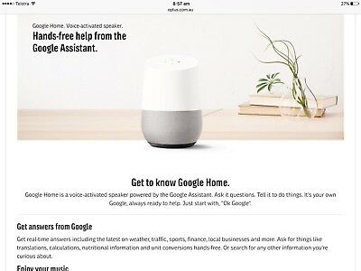 Google Home Au Model   New In Box Sealed Un Opened