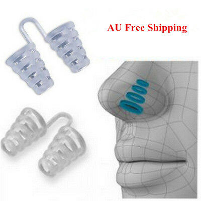 Anti Snoring Breathe Easy Sleep Aid Nasal Dilators Device No Strips Nose Clip AU