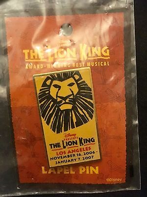 """""""The Lion King"""" Musical Lapel Pin"""
