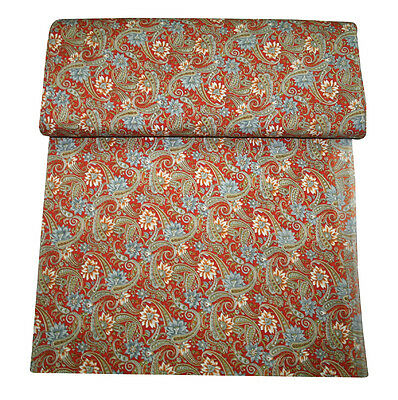 New Paisley Digital Print Fabric Hand Made Gold Print Fabric 5 Yard