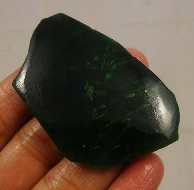 80 Cts. 100% Natural Free Form Green Jade Slice Specimen (NG316)
