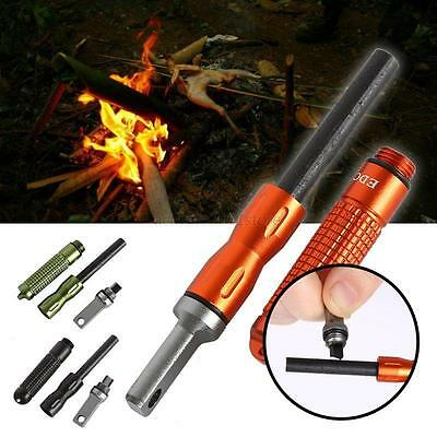 Magnesium Flint and Steel Striker Fire starter Firesteel Survival Camping Fire