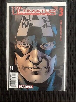 Marvel The Ultimates Issue 3 & 4 Signed Mark Millar & Bryan Hitch