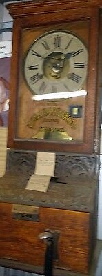 Antique Time clock punch card