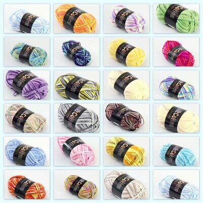 Crafts Sale 1ballx50g Soft Cotton Baby Yarn New Hand-dyed Wool Socks Scarf Knitting