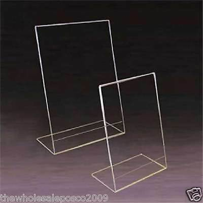 1 RITRATTO A5 Perspex Acrilico angolato CONTATORE menu poster Holder Display Stand