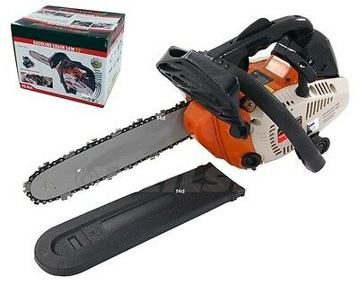 "Heavy Duty 12"" Top Handle Petrol Chainsaw Saw Cutter & Chain & Cover"