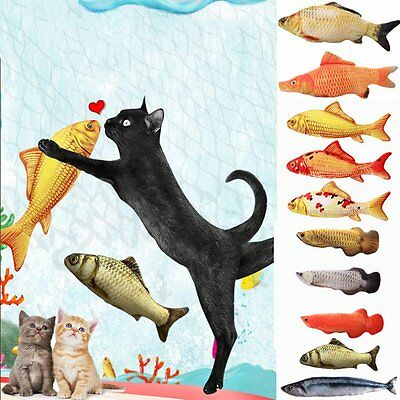 Hot Pet Cat Kitten Chewing Toys Stuffed Fish Mint Pet Interactive Kitten Product