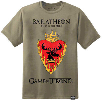 Mens Game Of Thrones House Baratheon Flag Style T Shirt Dragon Mother Jon Snow