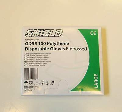 Disposable Polythene Gloves per 100 Large clear