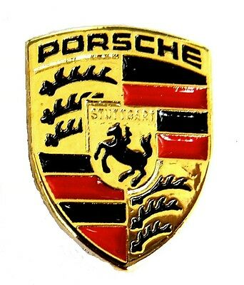 AUTO Pin / Pins - PORSCHE LOGO 10 mm x 13 mm (1391)