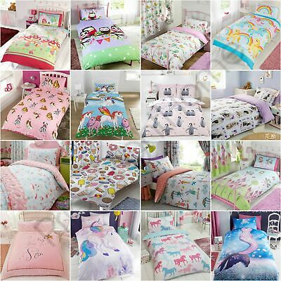 Girls Single Duvet Cover Sets - Unicorns, Butterflies, Princess, Owls & More