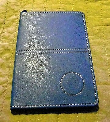 1 only GOLF DELUXE SCORECARD HOLDER BLUE  (SYN)  LEATHER BLUE IN COLOUR