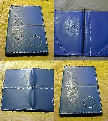 1 only GOLF DELUXE SCORECARD HOLDER BLue (SYN)  LEATHER BLUE -  With Pencil