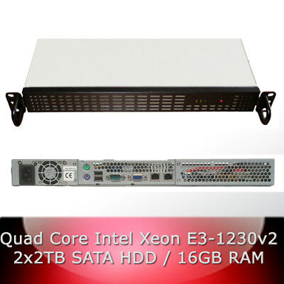 1HE 1U Rack Server Intel Xeon E3-1230 Quad Core / 16GB RAM / 2x 2TB SATA 3 HDD