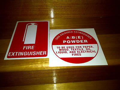 FIRE EXTINGUISHER LOCATION AND ID SIGNS SETS x 2 - FREE POSTAGE