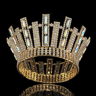 Bridal Crystal Crown Wedding Tiara Headband Pageant Rhinestone Prom Headpiece