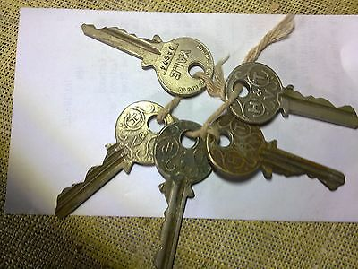 H and T Vaun keys x 4,  collectable, antique or vintage