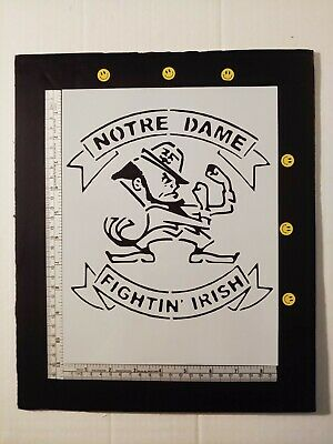 "Notre Dame Fighting Fightin Irish 8.5"" x 11"" Stencil FAST FREE SHIPPING"