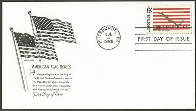 Us Fdc 1968 American Flag Series First Navy Jack 6C Stamp First Day Of Issue