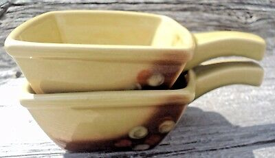 Ceramique De Beauce Astral 2 Square Soup Bowls With Handles Philippe Lambert