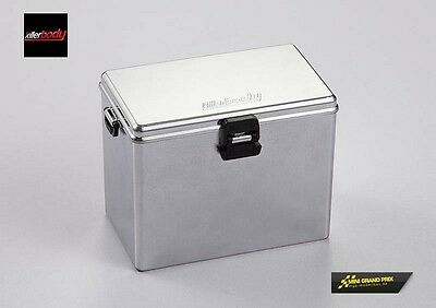 Killerbody 1:10 Chrome Plated Plastic Box with Lid Middle kb48439