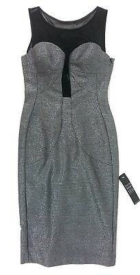 9899a4ab Black Halo Womens Tatym Cocktail Sheath Dress - Gunmetal / Black Size 0 NWT