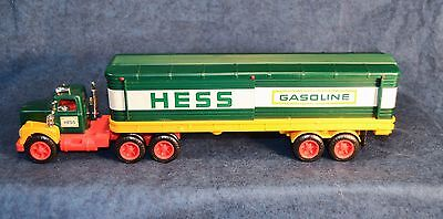 1976 Hess Toy Truck in Original Box with Inserts, Barrels - Good Condition