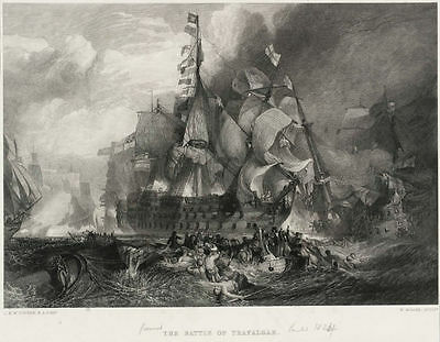 THE BATTLE OF TRAFALGAR    Turner-Miller 1875