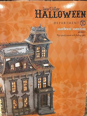 """Dept 56 HALLOWEEN """" MORDECAI MANSION """"   # 4025337 GENTLY USED, MINT CONDITION"""