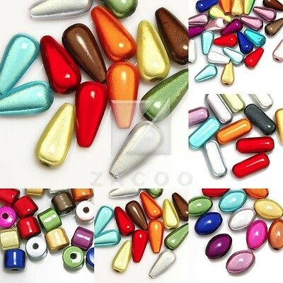 Cylinder/Teardrop/Oval/Capsule Mixed Acrylic 3D Illusion Miracle Beads Spacer