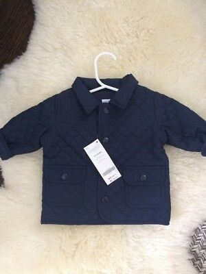 GYMBOREE Baby Boys 3-6 Months Navy Quilted Jacket Coat
