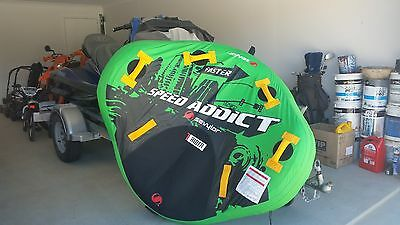 water ski tube 1 person speed addict huge 147 cm sevylor +rope
