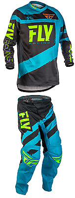 2018 Fly Racing F-16 MX ATV Pant and Jersey Combo - Blue/Black
