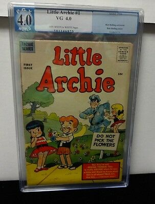 Little Archie #1 Scarce 1956 Pgx 4.0 Offwhite To White Pages Bob Bolling Art