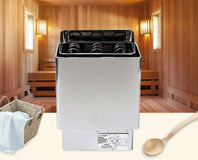220V 6KW Sauna Heater Stove Stainless Steel w/ External Controller Dry Sauna