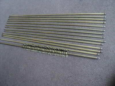 Beautiful Vintage Set Of 14 Solid Stair Rods And 28 Brackets