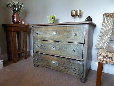 Antique Vintage Old Pine Chest of Drawers -Early 19th Century