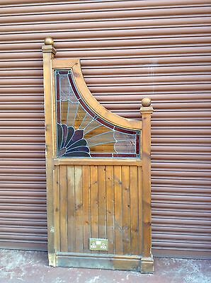 Vintage Reclaimed Stained Glass Leaded Glass Home Pub Dividers Micro Pub Panels
