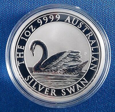 2017 Australia Silver Swan 1 Ounce .9999 Silver Coin from Sealed Roll