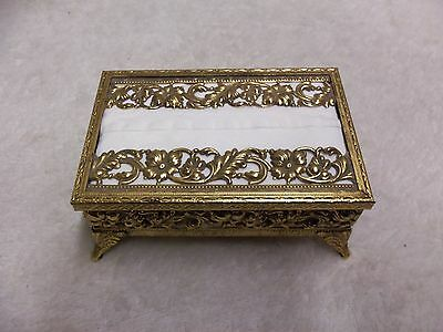 VINTAGE 24k GOLD PLATED TISSUE BOX STYLEBUILT ACCESSORIES N.Y.