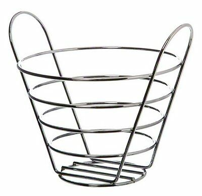 American Metalcraft WBC705 Round Wire Basket with Handles, 5-Inch, Chrome