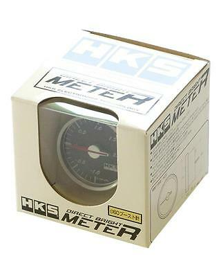 HKS Universal 60MM Direct Bright Boost Meter White Face 44004-AK002