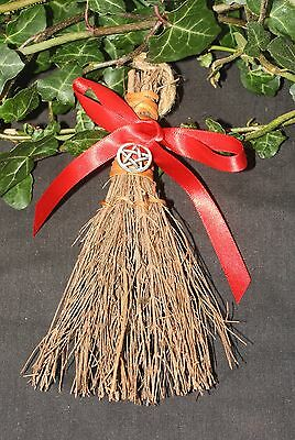 Cinnamon Scent besom/broom - for cleansing - Pagan, Wicca, Witchcraft, Pentagram