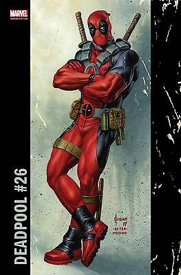 Deadpool #26 Marvel Comics 2017 Joe Jusko Corner Box Variant Cover Comic Book