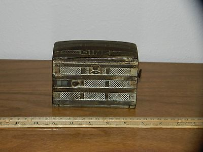 antique patent dated 1891 O.B. Fish trunk recording mechanical dime bank