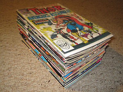 Lot of 69 Thor Copper Age Marvel comics in VF condition 390 - 465