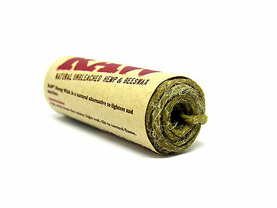 RAW Authentic Natural Hemp Wick 20FT/ 6 Meters and Beeswax Unbleached Handmade